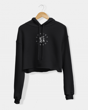 Womens Heart full of luxury cropped hoodie by Luxury Forbes