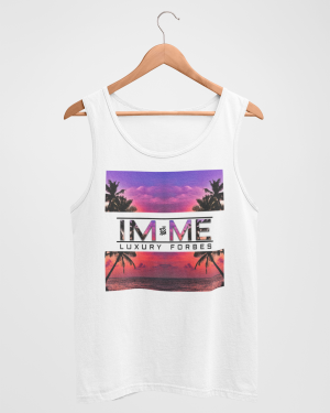 I'm Me From The Beach Mens White Tank Top