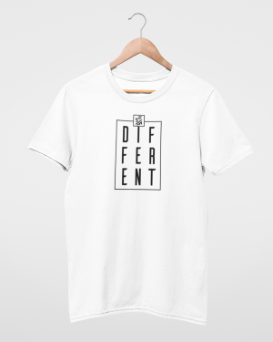 Be Different White Mens T-Shirt