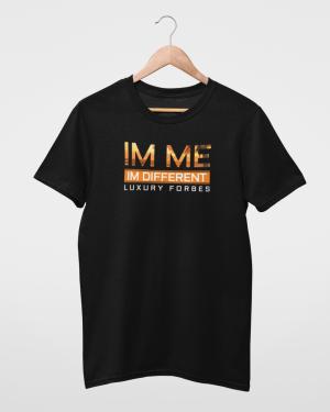 Mens Black T Shirt I'm Different T-Shirt