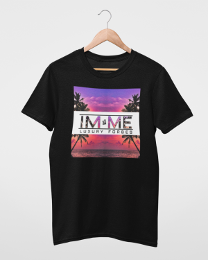 I'm Me From The Beach Black Mens T-Shirt
