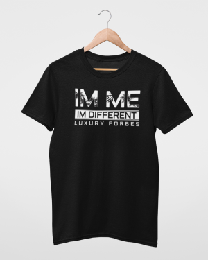 I'm Me I'm Different Black Mens T-Shirt
