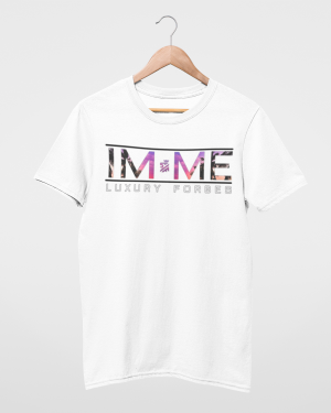 Mens White T-Shirt I'm Me by Luxury Forbes