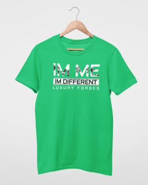 I'm Me I'm Different Green Mens T-Shirt