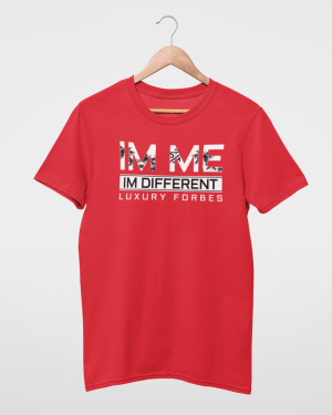 I'm Me I'm Different Red Mens T-Shirt