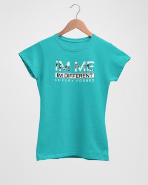 Im Me Im Different Women's Tahiti Blue T-Shirt