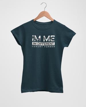 Im Me Im Different Women's Navy T-Shirt