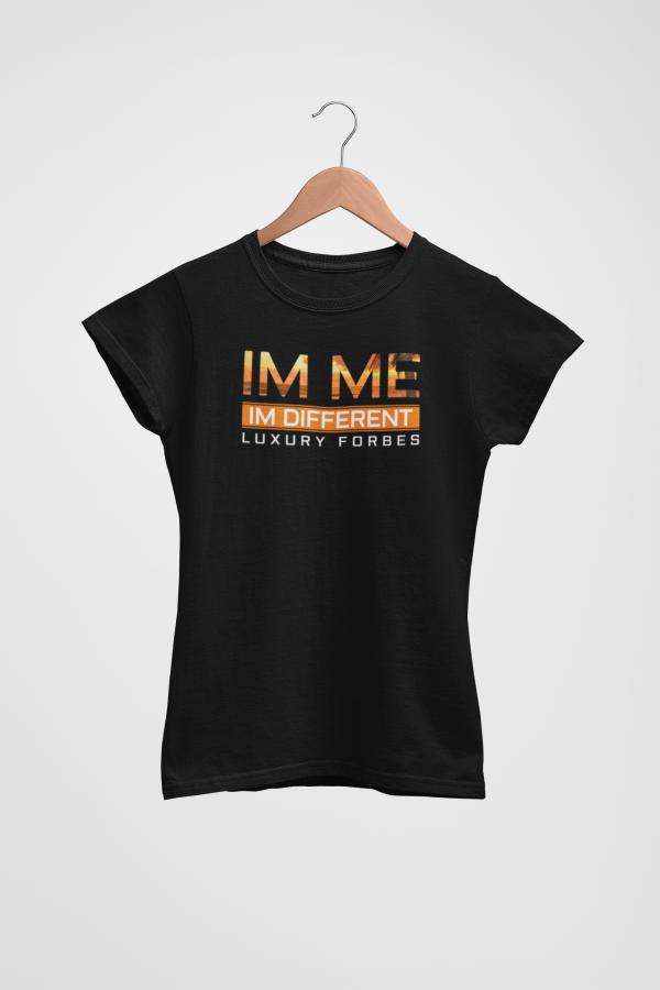 Im Me Im Different Orange Womens T-Shirt