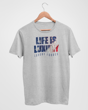 Living in American Luxury Men's Grey T-Shirt