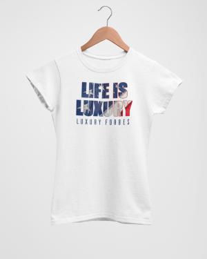 Living in American Luxury Women's White T-Shirt