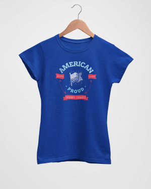 American Proud Women's Blue T-Shirt